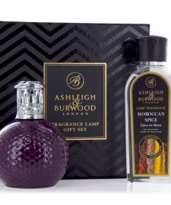 Ashleigh & Burwood Lamp Gift Set Damson in Distress